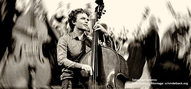 Sebastian Gramss Bassmasse bei Enjoy Jazz 2014 - Foto: Schindelbeck