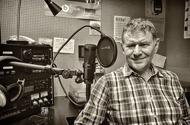 Bernhard Sperrfechter am 13.6.2016 im Bermudafunkstudio in Mannheim