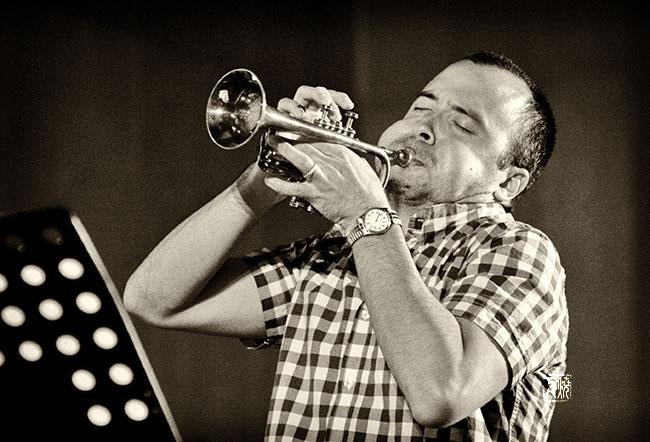 Taylor Ho Bynum by Frank Schindelbeck jazz photography