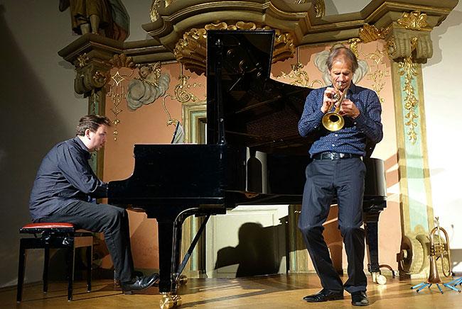Markus Stockhausen und Florian Weber in Schwäbisch Hall - Foto: Kumpf
