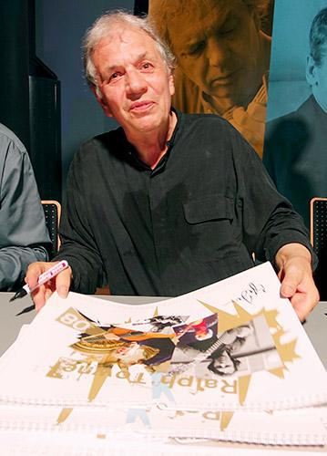 Ralph Towner signiert Jazzkalender von Hans Kumpf