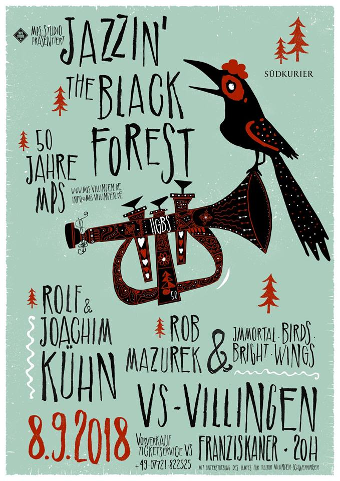 Jazz in the Black Forest Plakat 2018