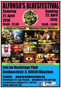 Alfonson's Bluesfestival April 2018 - Plakat