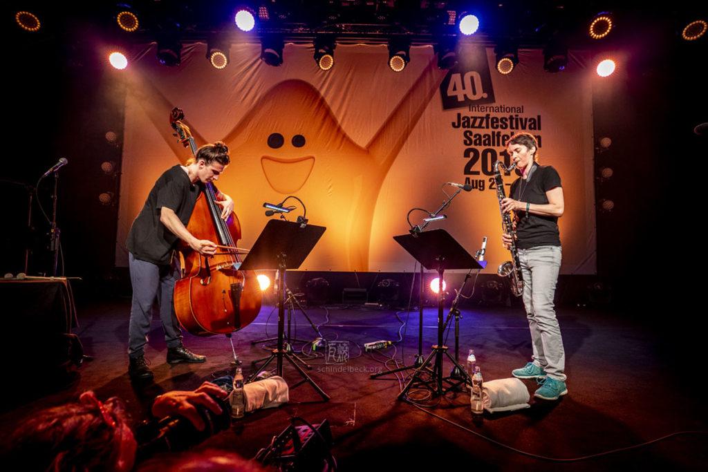 Manu Mayr und Susanna Garmayer / Jazzfestival Saalfelden 2019 - Photo: Frank Schindelbeck