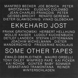 Ekkehard Jost - Some Other Tapes Cover