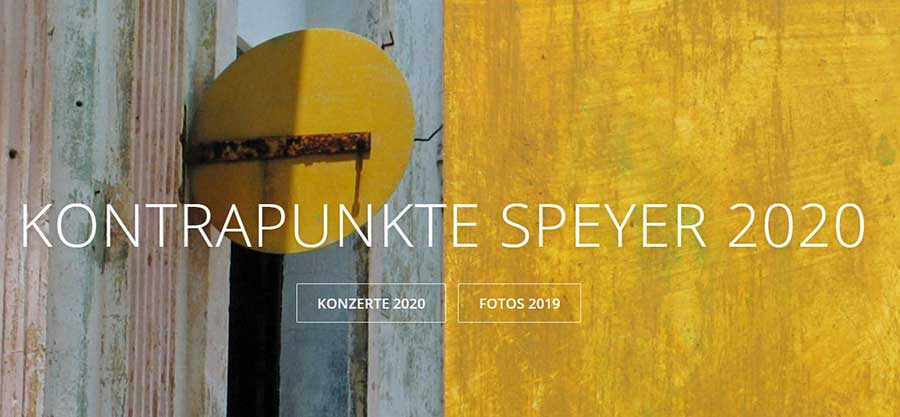 Kontrapunkte 2020 in Speyer Banner