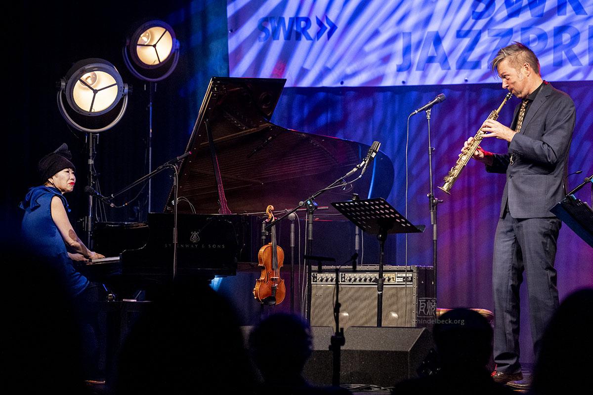Daniel Erdmann & Aki Takase by Frank Schindelbeck Jazz Photography
