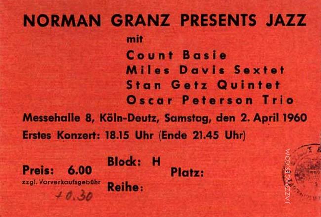 Eintrittskarte Count Basie, Miles Davis und andere