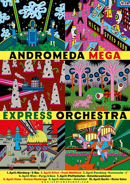 Andromeda Mega Express Orchestra Plakat