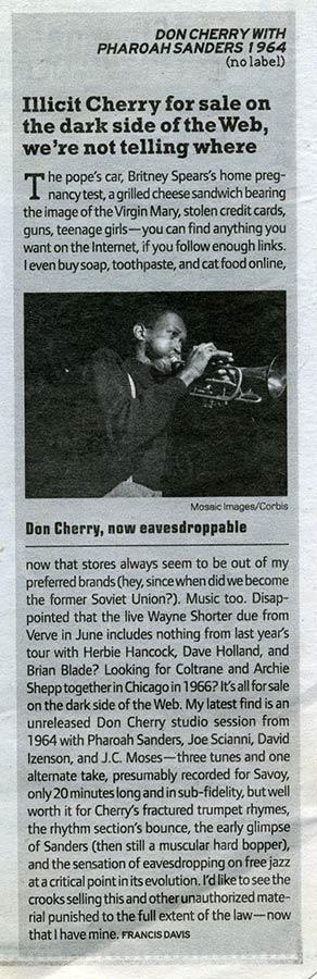 Don Cherry with Pharoah Sanders 1964