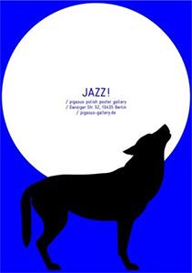 Jazz-Plakate in der Polish Poster Gallery in Berlin im April 2015