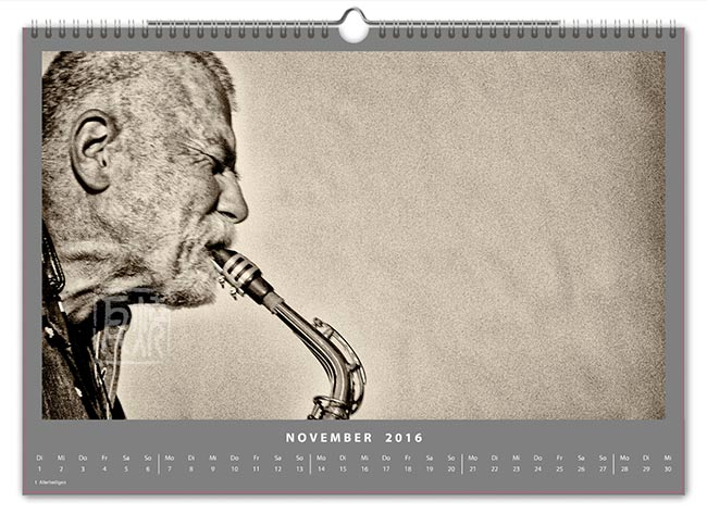 Jazzkalender 2016 - Peter Brötzmann