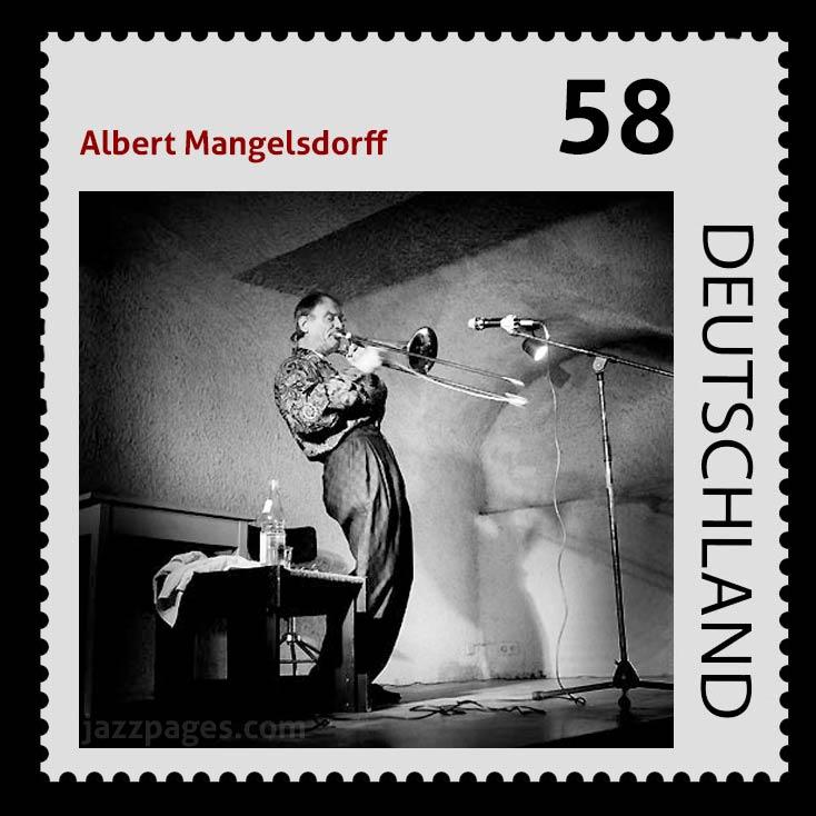 Albert Mangelsdorff Briefmarke von Frank Schindelbeck