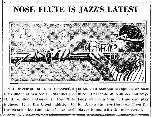 Nose Flute Is Jazz Latest