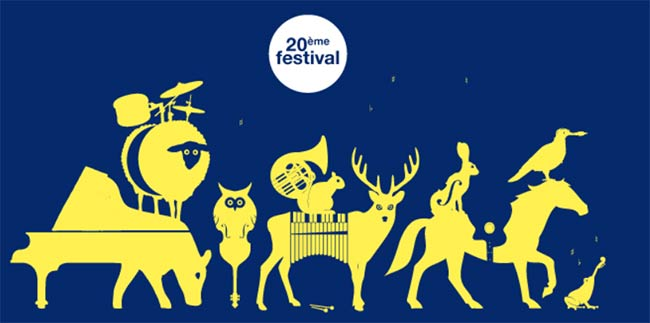 Langourla Jazzfestival in der Betagne, Frankreich - Poster