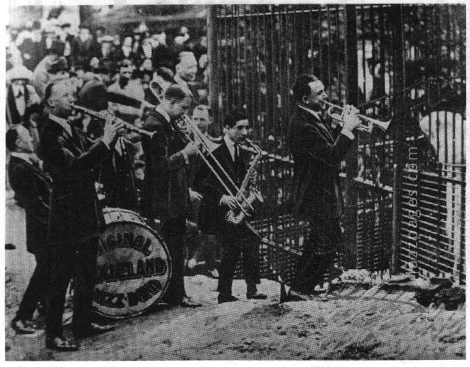 Original Dixieland Jass band 1921 im New York Zoo Foto